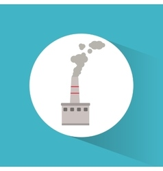 industry building power chimney pollution vector image