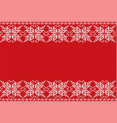knitted floral geometric ornament design with vector image vector image