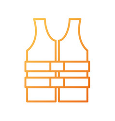 Life jacket vest clothing rescue safety vector