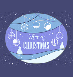 Merry christmas papercut style christmas balls vector