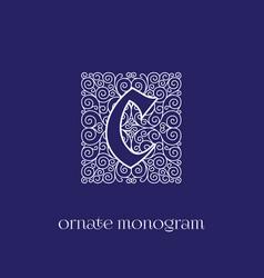 monogram c vector image vector image