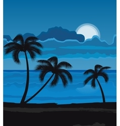 Night summer beach vector image vector image