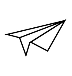 Paperplane airplane toy vector