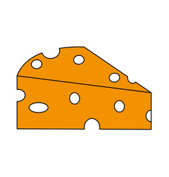 piece of cheese icon image vector image vector image