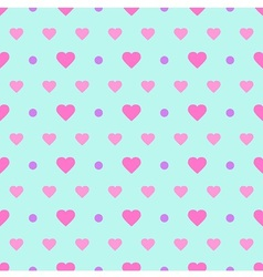 Polka Dot and Heart vector image