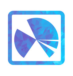 polygon blue icon chart vector image vector image