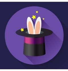 Rabbit in a magic hat vector