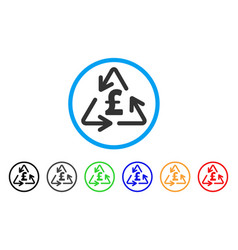 recycling pound cost rounded icon vector image