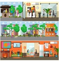 set of modern gadgets for daily life vector image