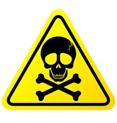 Skull danger sign vector image vector image