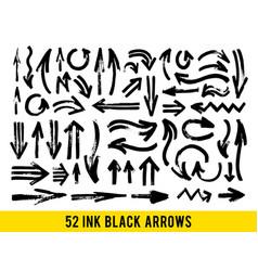 strokes abstract backhground set black vector image