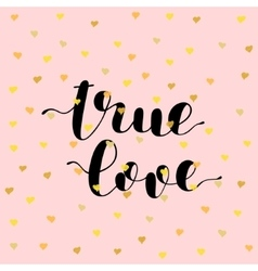 True love brush lettering vector