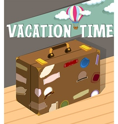 Vacation time with luggage vector