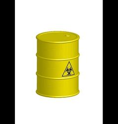 Vertical Biohazard yellow barrel vector image