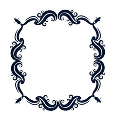 Vintage ornate wreath and scroll banner vector