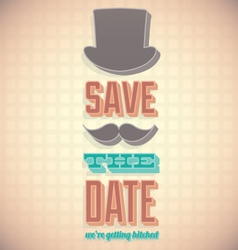 Vintage Save the Date Card vector image vector image