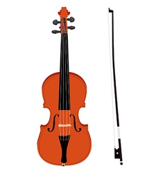 Violin with fiddlestick vector image