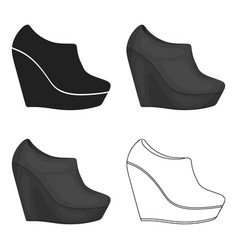 Wedge booties icon in cartoon style isolated on vector