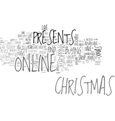 Why not buy your christmas presents online text vector