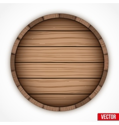 Wooden cask for alcohol drinks emblem vector