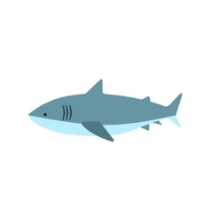 Great white shark primitive style childish sticker vector