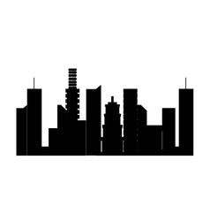 Urban city towers vector