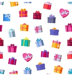 Gift boxes seamless pattern in flat design vector