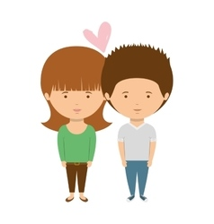 Couple with casual clothes inlove vector