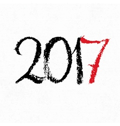 Happy new year 2017 on white paper design element vector