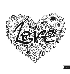Love postcard lettering love ink  modern brush vector
