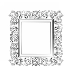 Elegant baroque royal frame vector