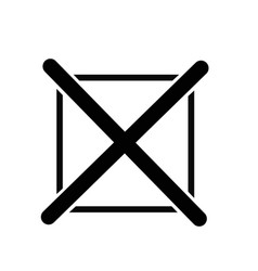 Cross mark icon vector