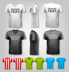 Set of colorful male t-shirts vector