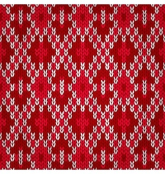 Seamless christmas red knitted pattern style knit vector