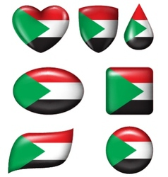 Palestine flag in various shape glossy button vector