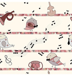 Bird love song musical instrument note vector