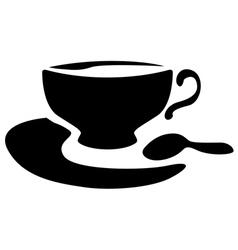 cup tea vector image