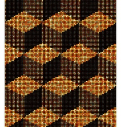 3d halftone cubes gold metal colors seamless vector