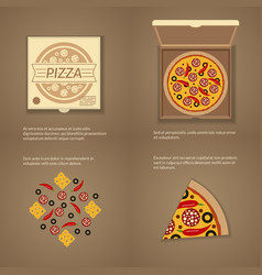 Italian pizza in flat style vector