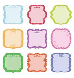 Label decorations vector