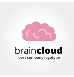 Abstract brain logotype concept isolated on white vector image
