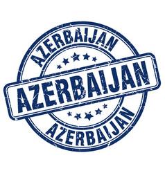 Azerbaijan blue grunge round vintage rubber stamp vector
