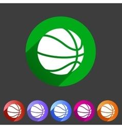 Basketball icon flat web sign symbol logo label vector image vector image