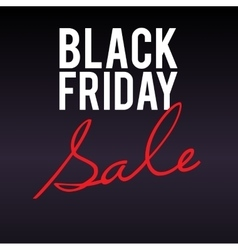 Black Friday sale large banner on dark background vector image vector image