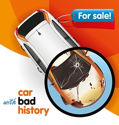 Car with bad history vector