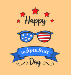 Collection stock independence day hand draw vector