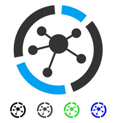 Connections diagram flat icon vector