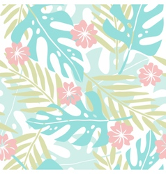 Cute hand drawn tropical seamless pattern vector
