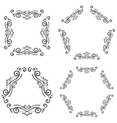 decorative ornaments black elements vector image