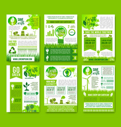 earth nature ecology infographics brochure vector image vector image